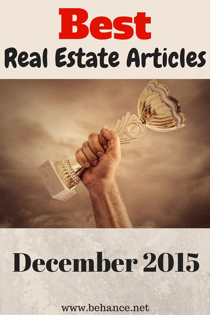 Some of the best real estate articles found from around the web in December 2015.