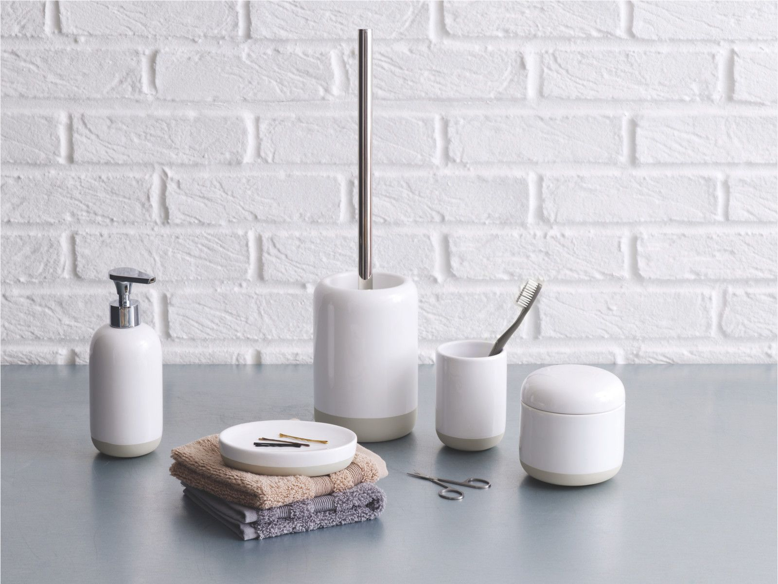 check out the new furniture and accessories from our new ss14 lookbook bathroom accessories setstoilet brushwhite - White Bathroom Accessories Ceramic