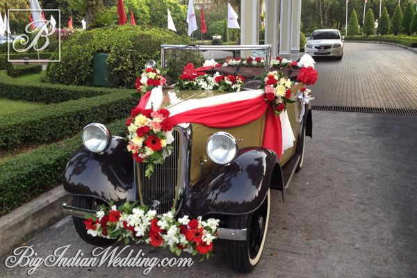 Spectrum Events Decorated Vintage Car For The Groom Wedding
