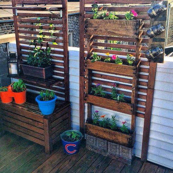 Pallet planter | Pallets | Pallet, Planters, Garden planters