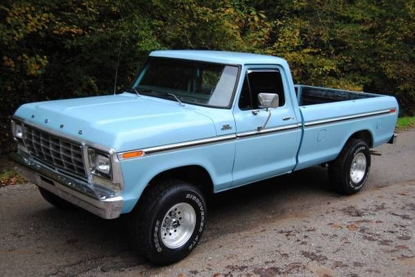 Used To Have A Powder Blue One Like This Classic Ford Trucks 1979 Ford Truck Ford Trucks