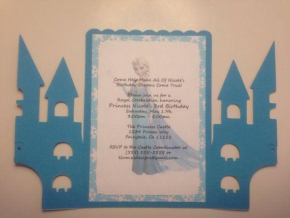 30-2.5 x 5.5 invitaciones de cumpleaños de Elsa por KlumziDesigns