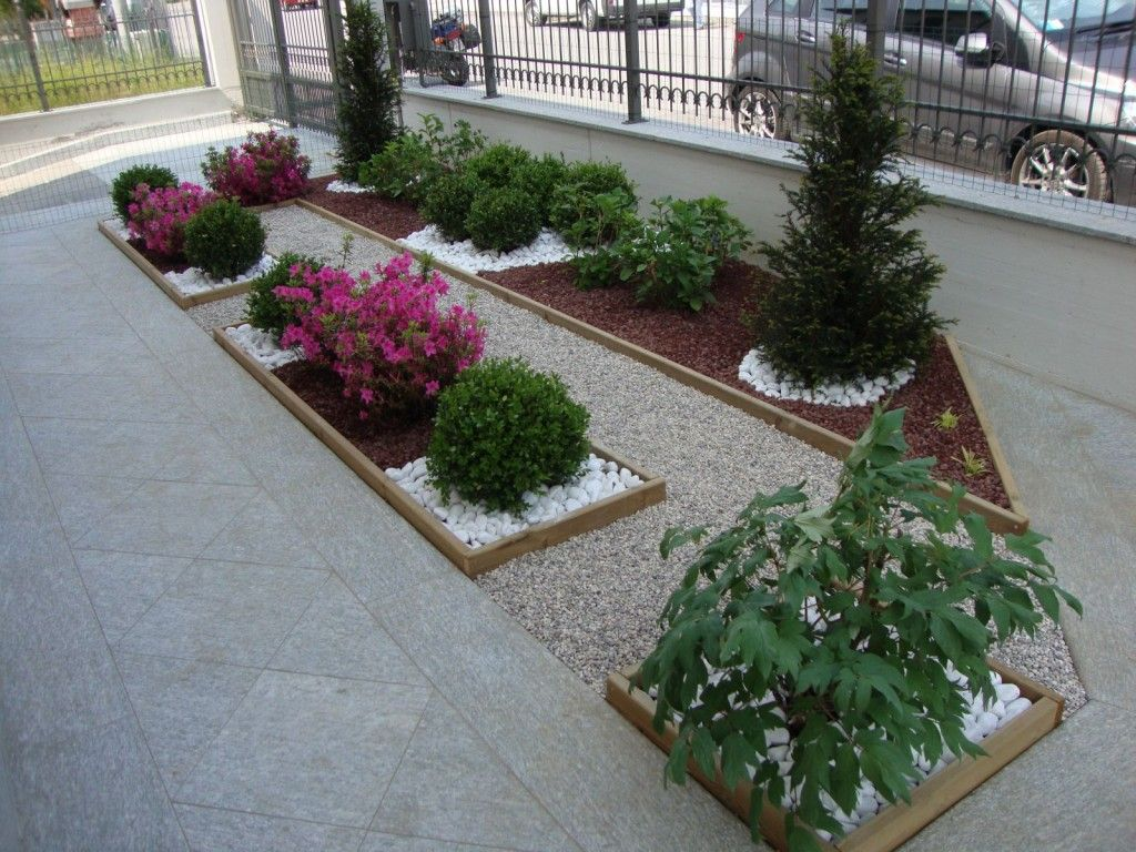 Aiuole in citt paesaggi garden vivaio aiole pietra - Idee per aiuole giardino ...