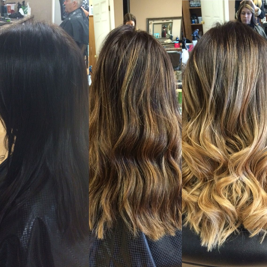 Transform! From dark to light in 3 steps. Brunette to blonde, long ...