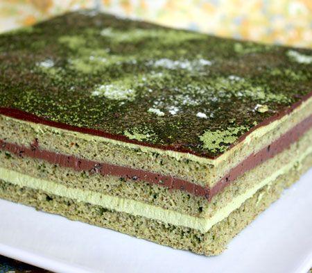 Green and black chocolate cake recipe