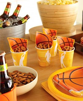 basketball themed table decorations   Basketball Decorating Ideas     basketball themed table decorations   Basketball Decorating Ideas    basketball paper items get expensive for a large crowd   try using just  plain orange
