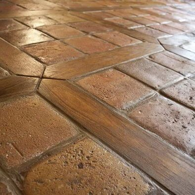 Tile and wood together 23 Полы/Floors Pinterest Pisos - azulejos rusticos