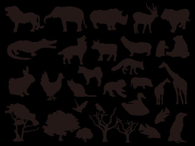 森の動物 シルエット の画像検索結果 動物 シルエット 森の動物 森