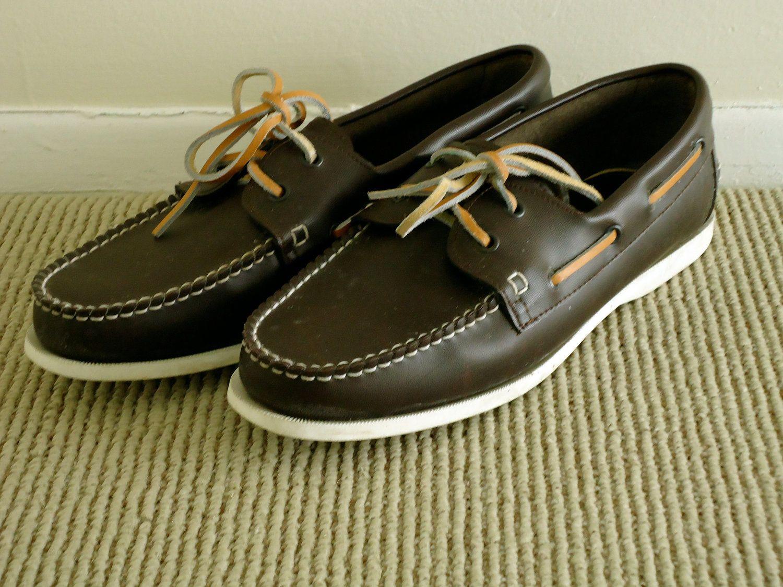 de9ad915f5241 Suburbans Waterproof Boat Shoes / 80s preppy brown topsiders / 9.5 ...