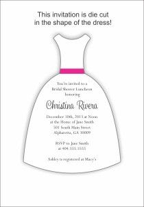 dress invitation template