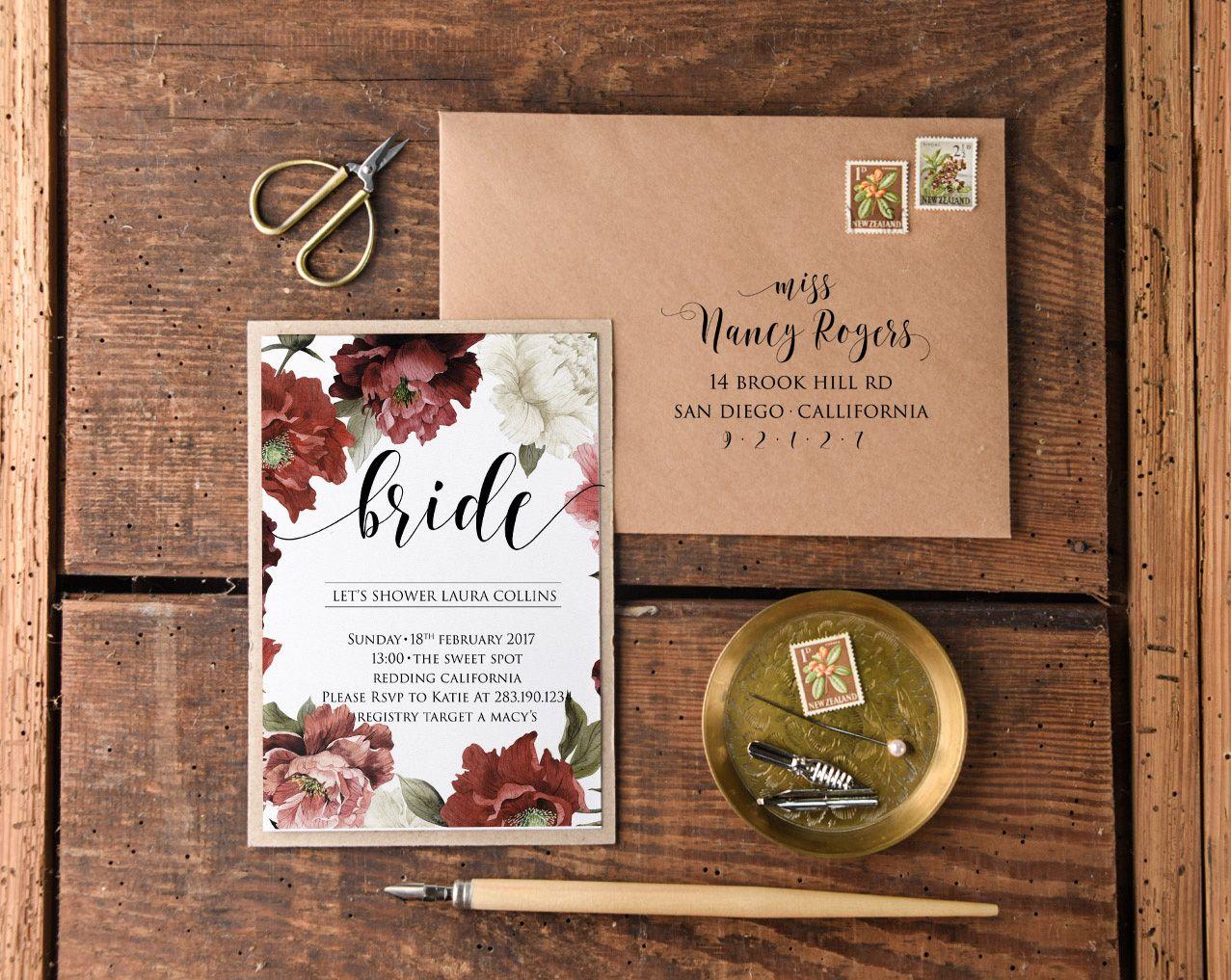 BRIDAL SHOWER INVITATIONS 04/fall/BS