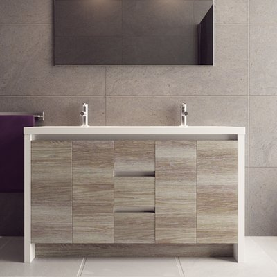 Orren Ellis Ofelia 54 Double Bathroom Vanity Set Base Finish