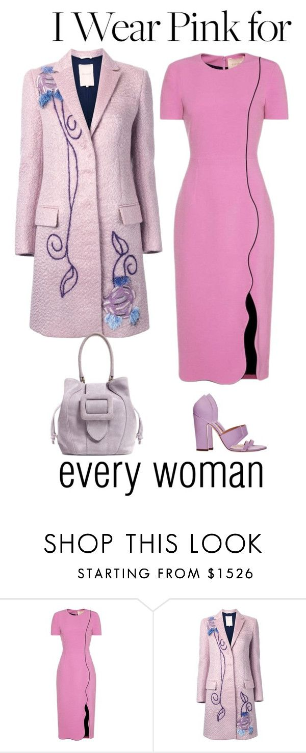 """""""Pink day"""" by hani-bgd ❤ liked on Polyvore featuring Roksanda and IWearPinkFor"""