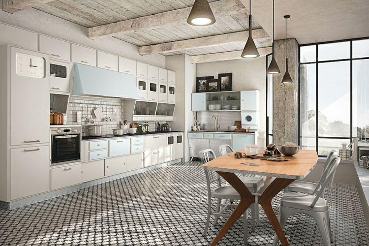 Kann die moderne Küche im Retro Stil gestaltet sein? | Haus | Pinterest