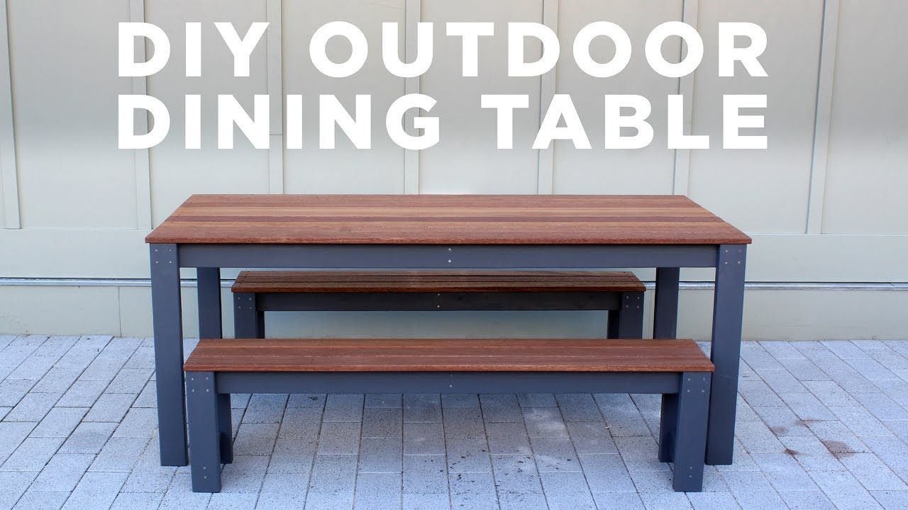 Full Instructions For This Modern Diy Outdoor Table Will Be Coming Soon To Homemade Modern Com F Modern Outdoor Table Diy Patio Table Outdoor Tables And Chairs