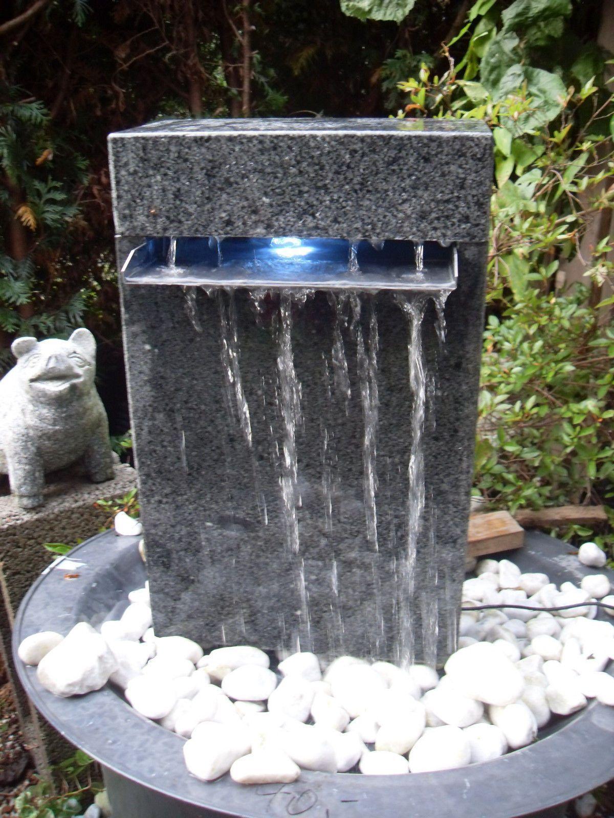 17 Brunnen Garten Granit Brunnen Garten Granit In 2020 Brunnen Garten Solarbrunnen Garten Brunnen