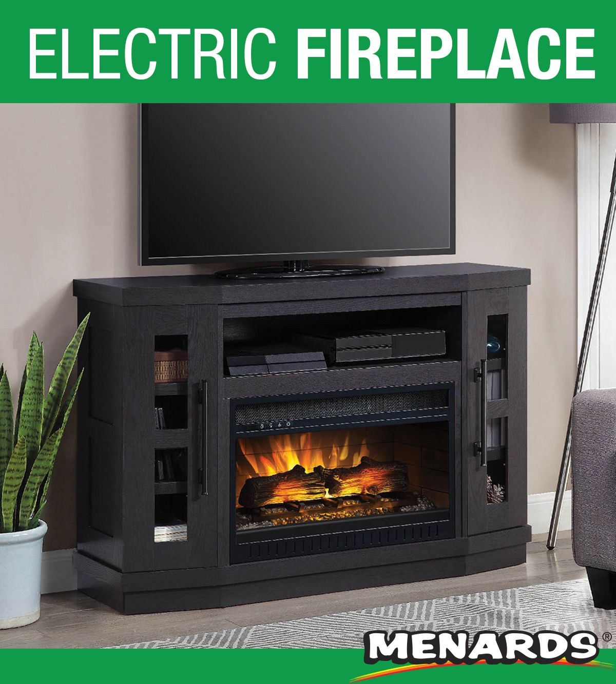 The Ridgeview Electric Fireplace Entertainment Center From Whalen