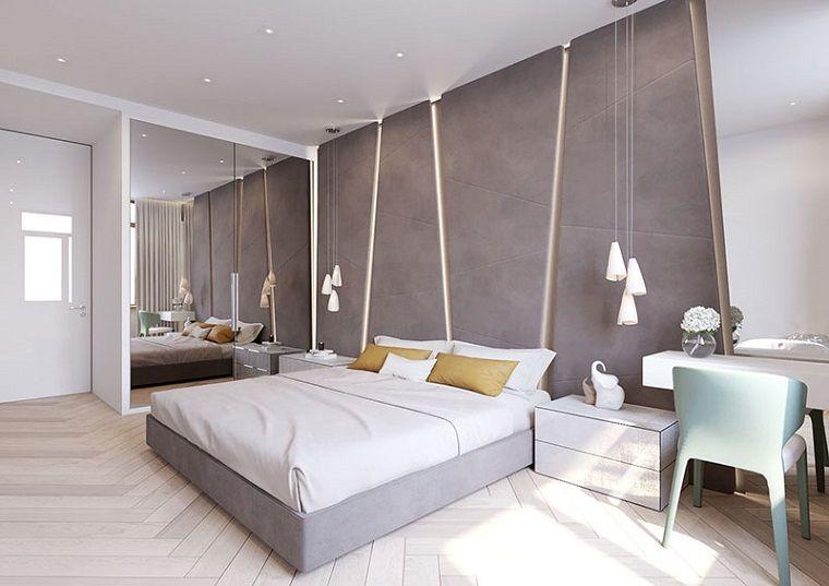 Stili di arredamento per la camera da letto, decorazione con una ...