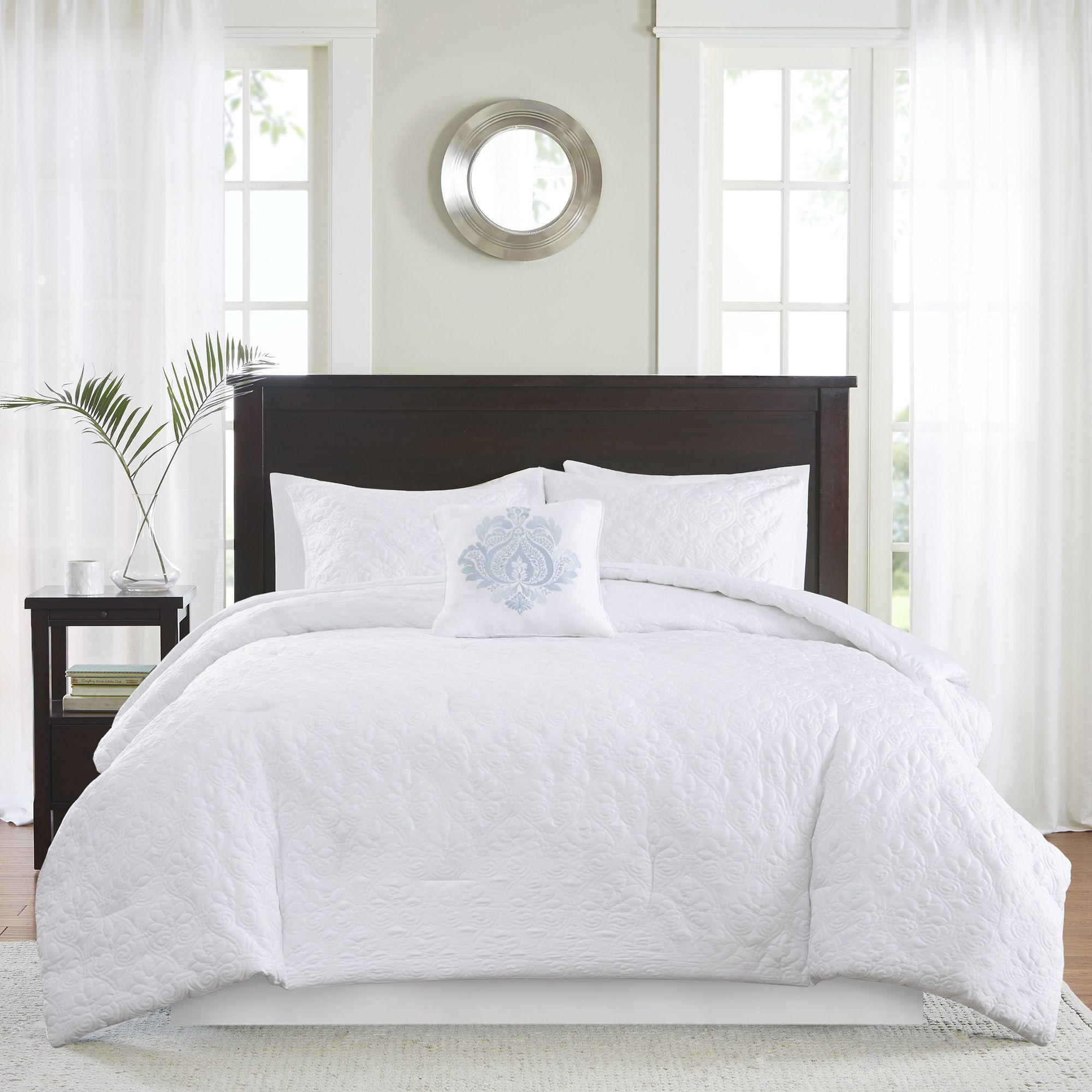 Madison Park Mansfield Quilted White Comforter Set - Overstockcom Shopping