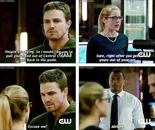 Arrow - Felicity & Oliver #2.10 #Season2 #Olicity <3<3<3
