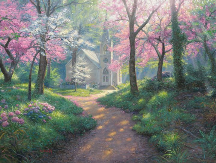 Spring Chapel Mark Keathley Painted Places Pinterest Paintings Artwork And Artist