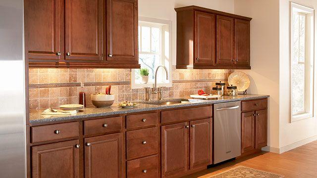 Fairfield Maple Nutmeg Cabinets - HOME DECOR