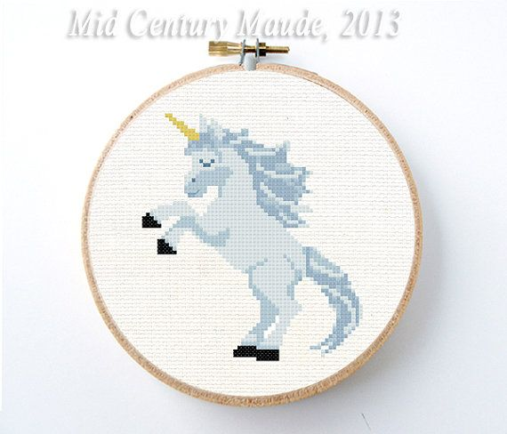 Unicorn Cross Stitch Pattern Instant Download PDF Digital Needlepoint