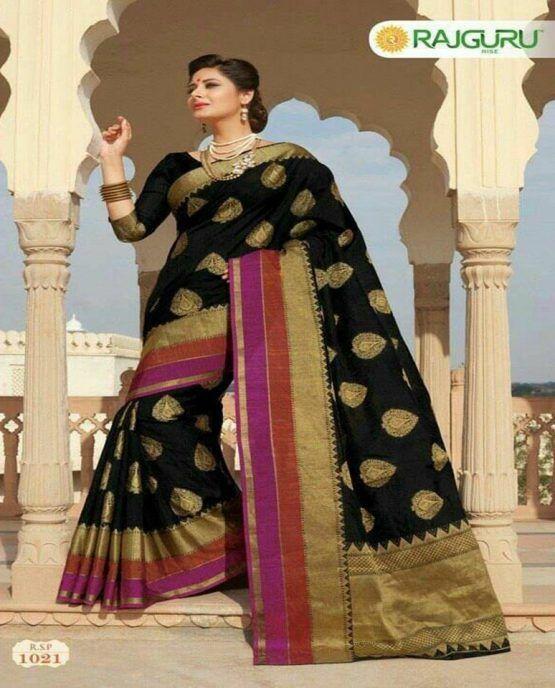 ec23df7b05e6cb Rajguru Silk Katan Saree 1021