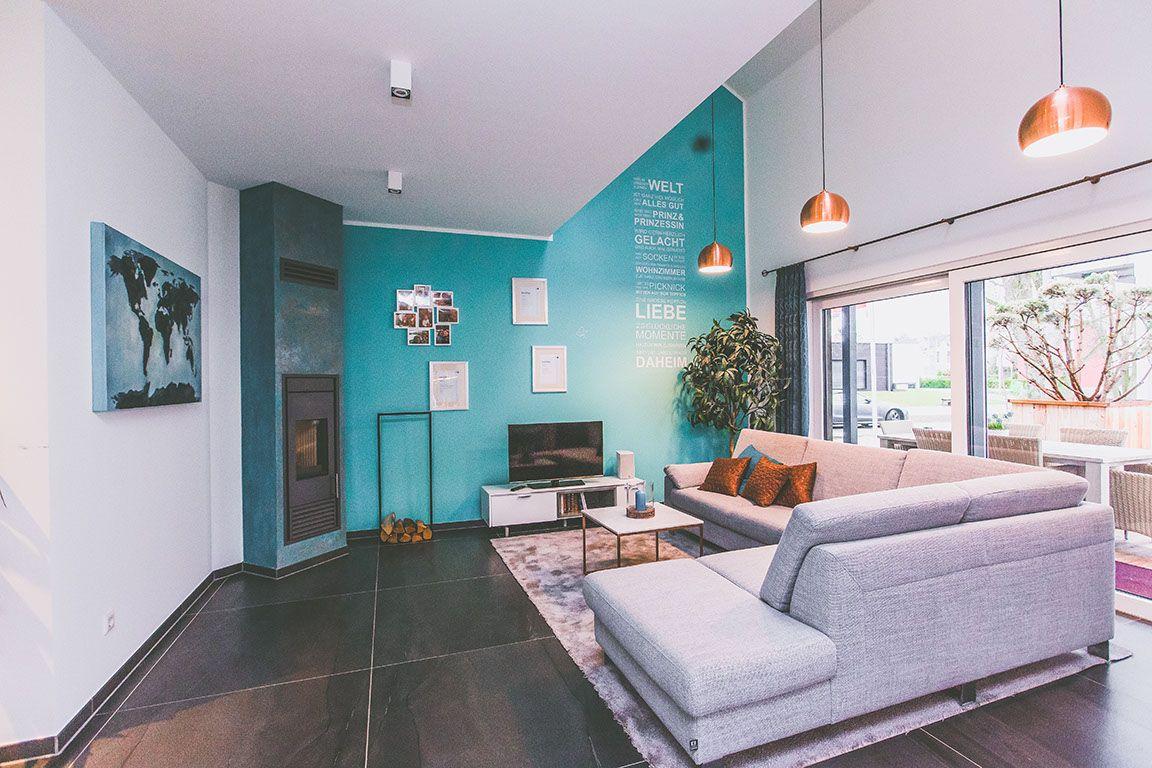 Wohnzimmer Impressionen Musterhaus Baufamilien Dekoration