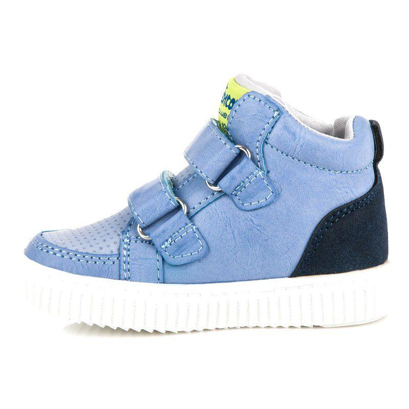 Obuwie Nad Kostke American Club Niebieskie Shoes Sneakers Fashion