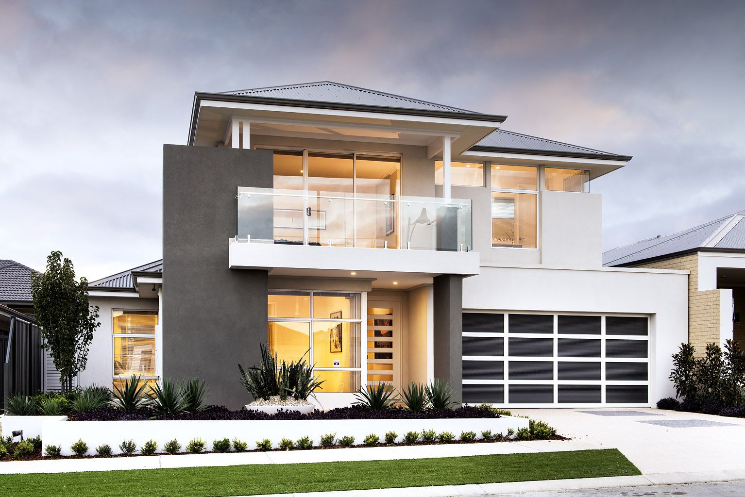 the schofield ben trager homes perth display home modern facade elevation - Modern Display Homes