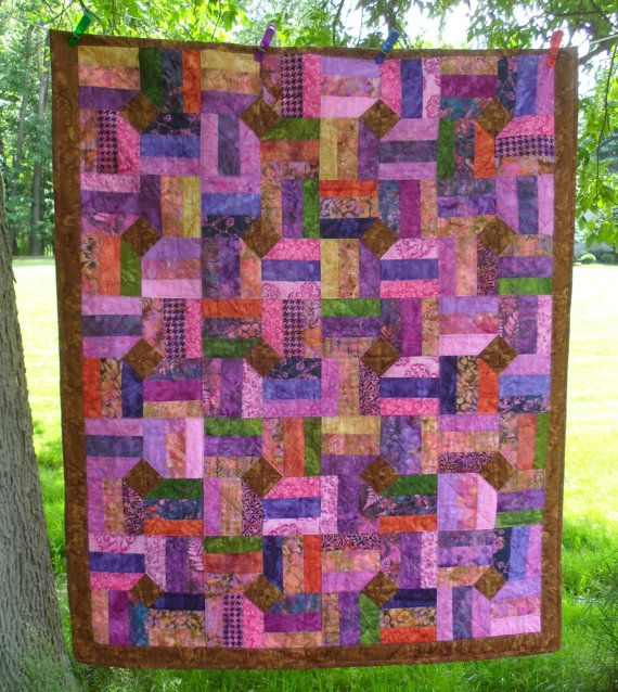 Wildberry Bali Pop Batik By Hoffman Fabrics Handmade Quilt Bali Pop Quilts Quilts Handmade Quilts