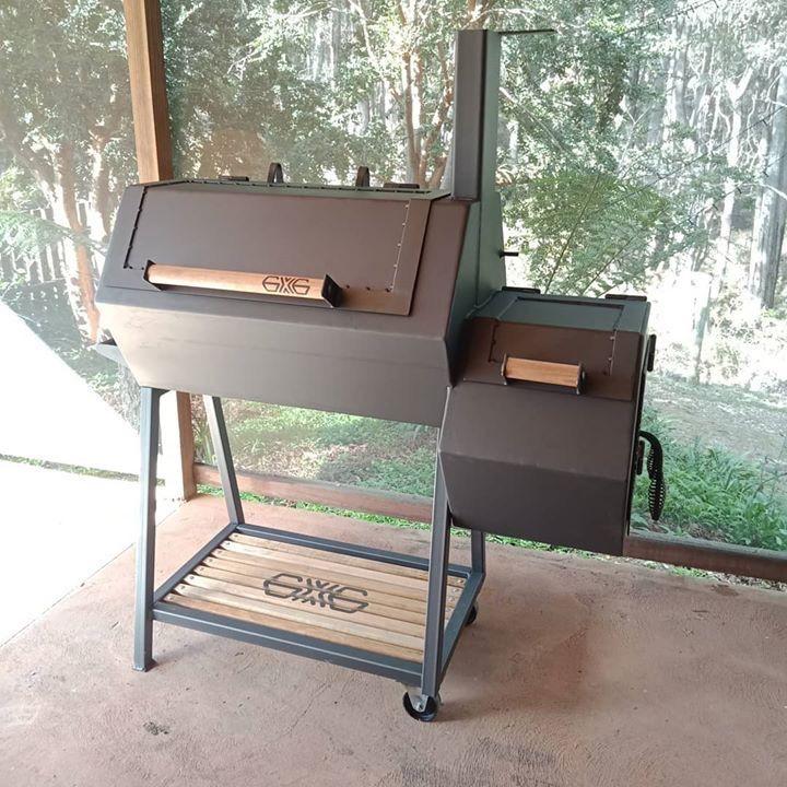 Details about reverse flow offset smoker custom designed