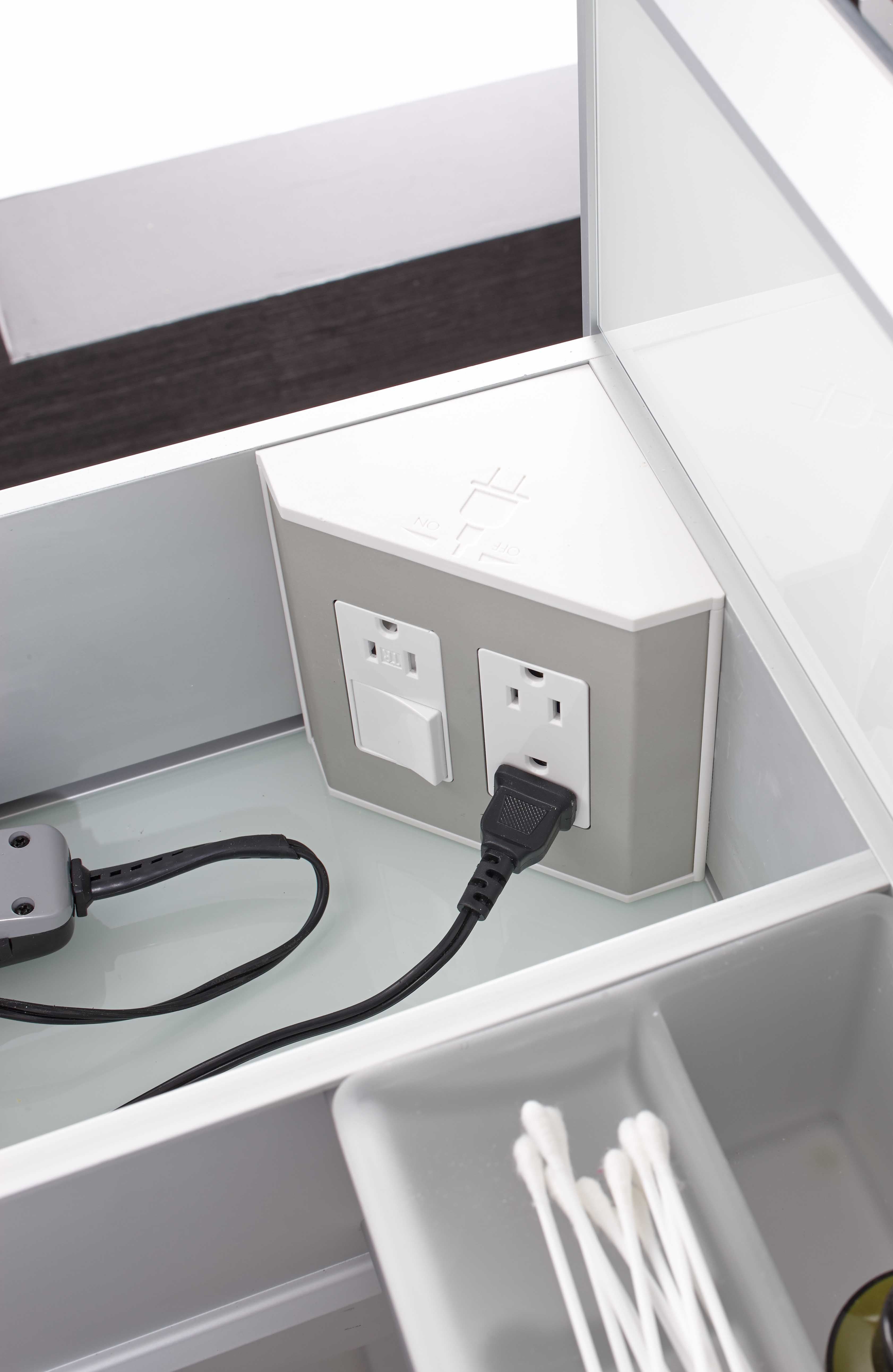 Vanity Light No Outlet Box : In-the-drawer electrical outlets for bathroom drawers & vanities NEW Products Pinterest ...