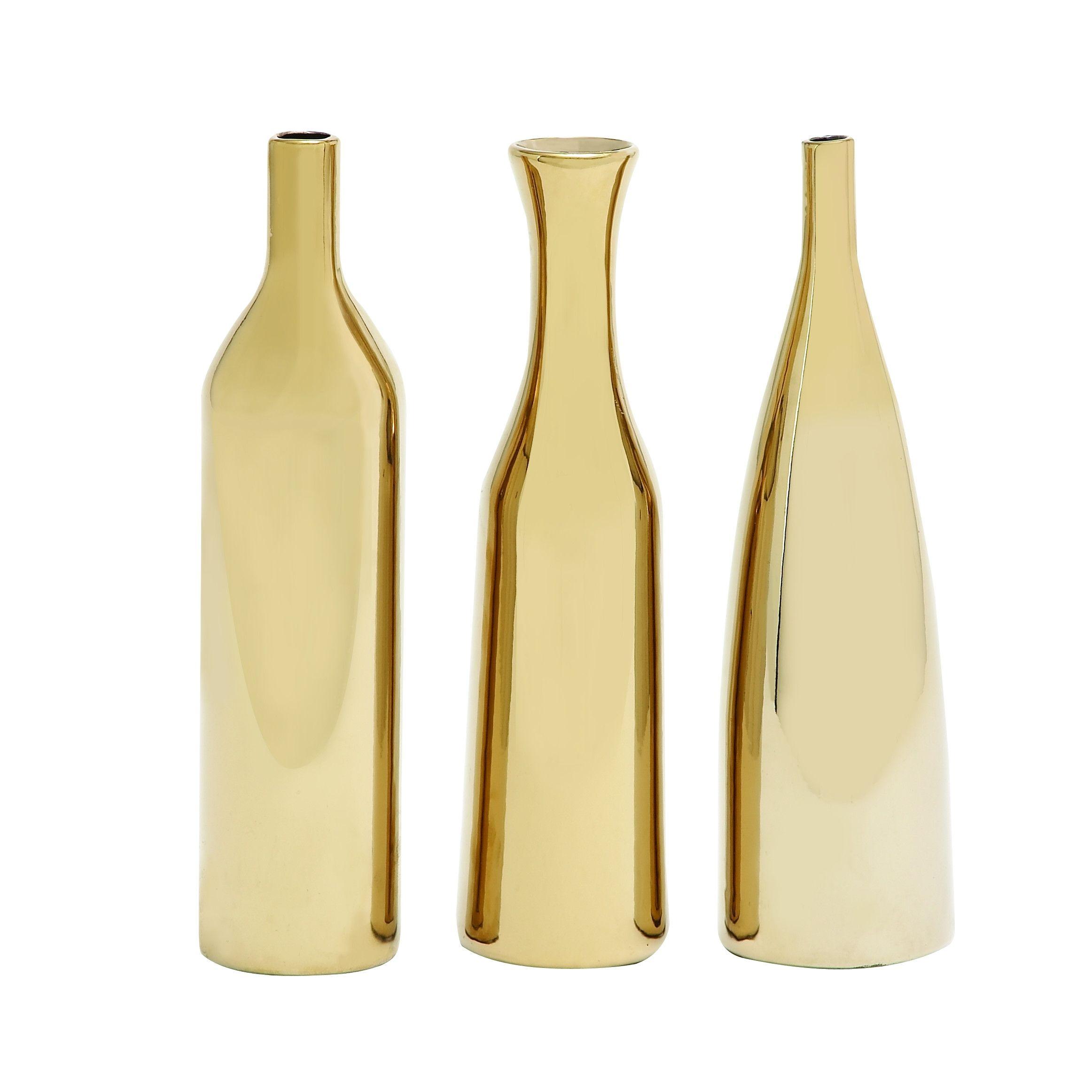 Woodland Imports 3 Piece Hawaiian Artistic Styled Ceramic Vase Set ...