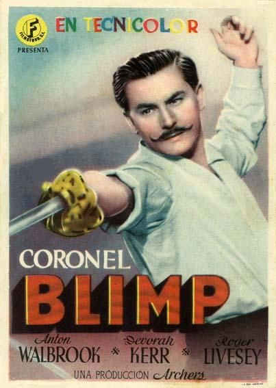 "Coronel Bilmp (1943) ""The Life and Death of Colonel Blimp"" de Michael Powell, Emeric Pressburger - tt0036112"