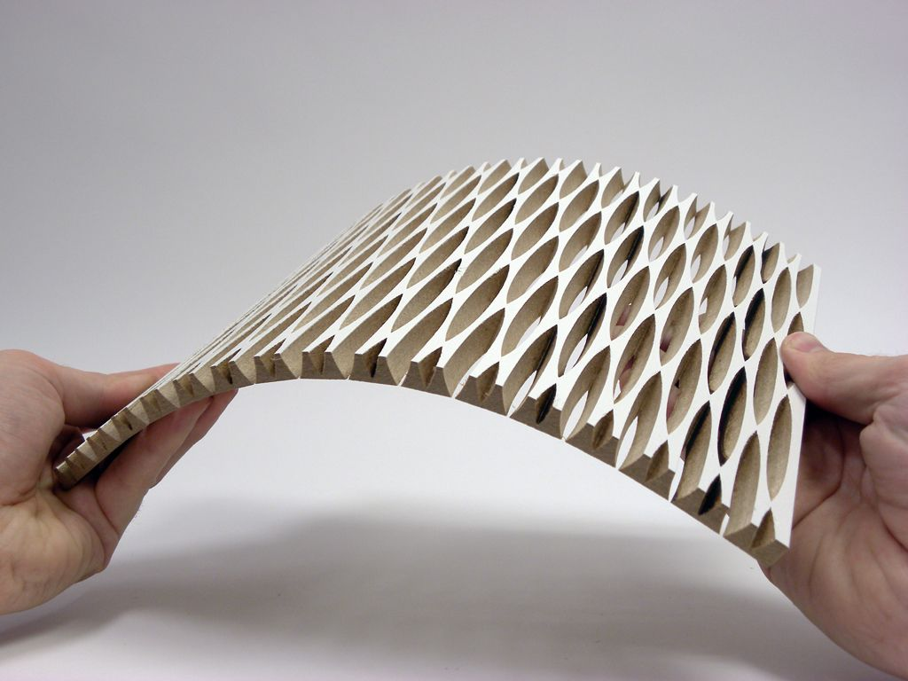 dukta folie - flexible wood and wood materials. Through the cuts ...