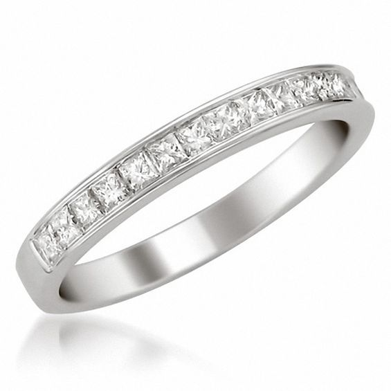 bf43db77a21fc 1/2 CT. T.w. Certified Princess-Cut Diamond Channel Set Wedding Band ...