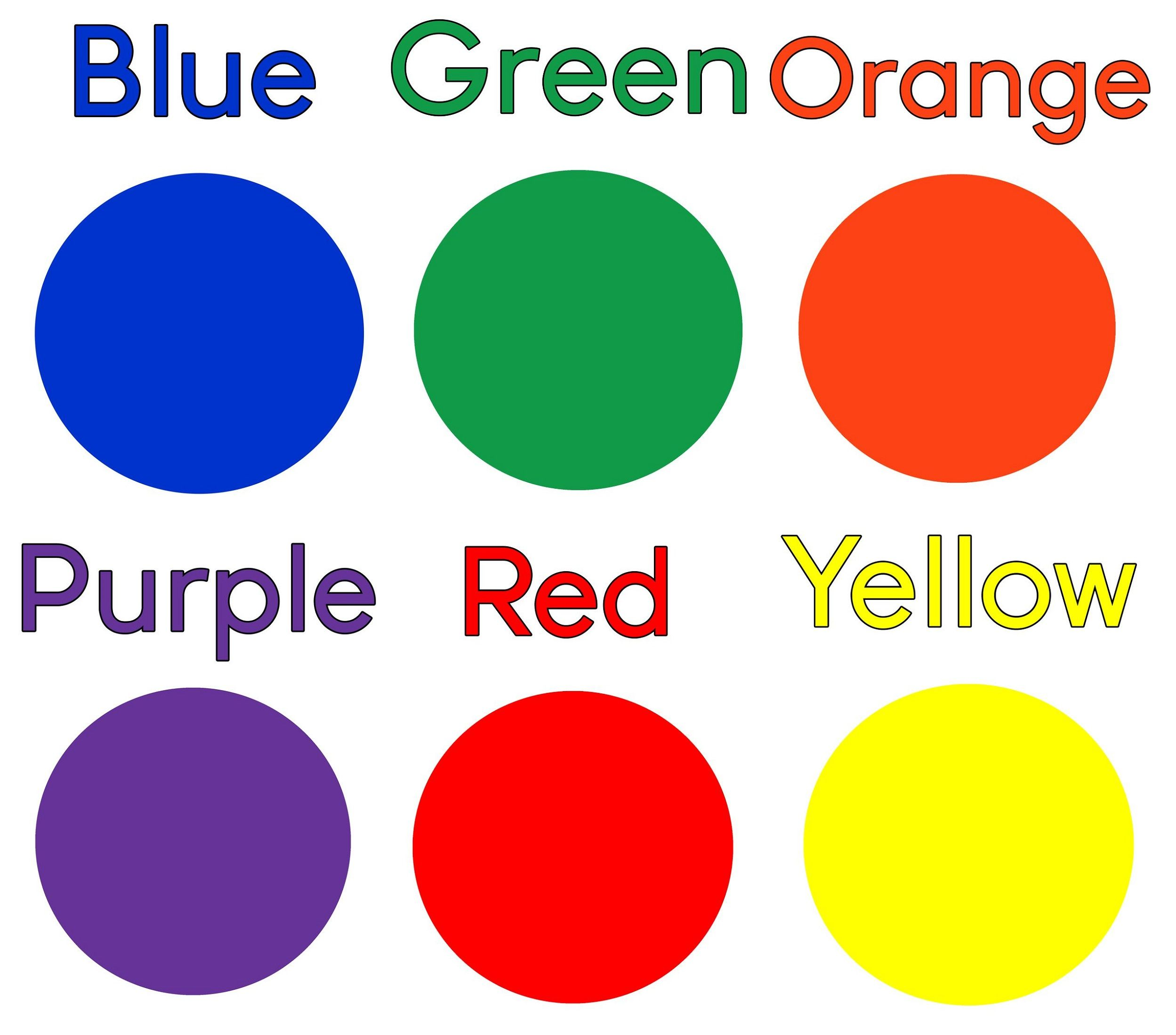 Toddler Learning Colors Sheets