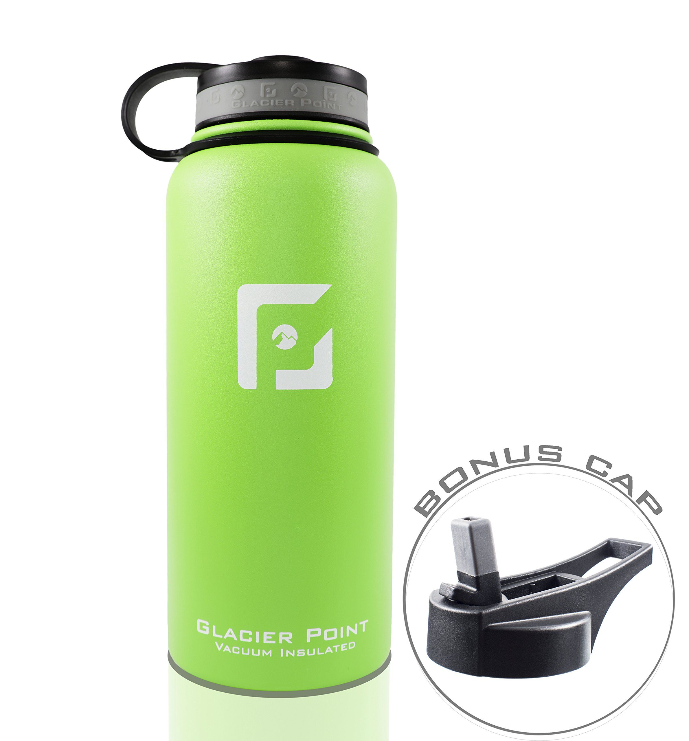 2165b22696 Best Vacuum Insulated Stainless Steel Water Bottle 32 OZ. Double Walled  Construction. Powder Coat. Glacier Point Green *** Learn more by visiting  the image ...