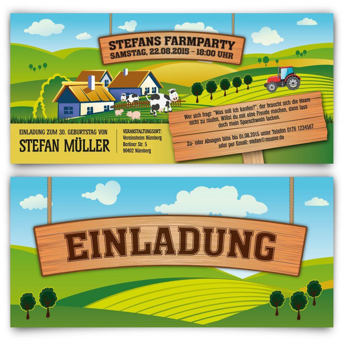 Einladung Vorlage Zu Party Geburtstag Essen: Einladung Kindergeburtstag Bauernhof Vorlage