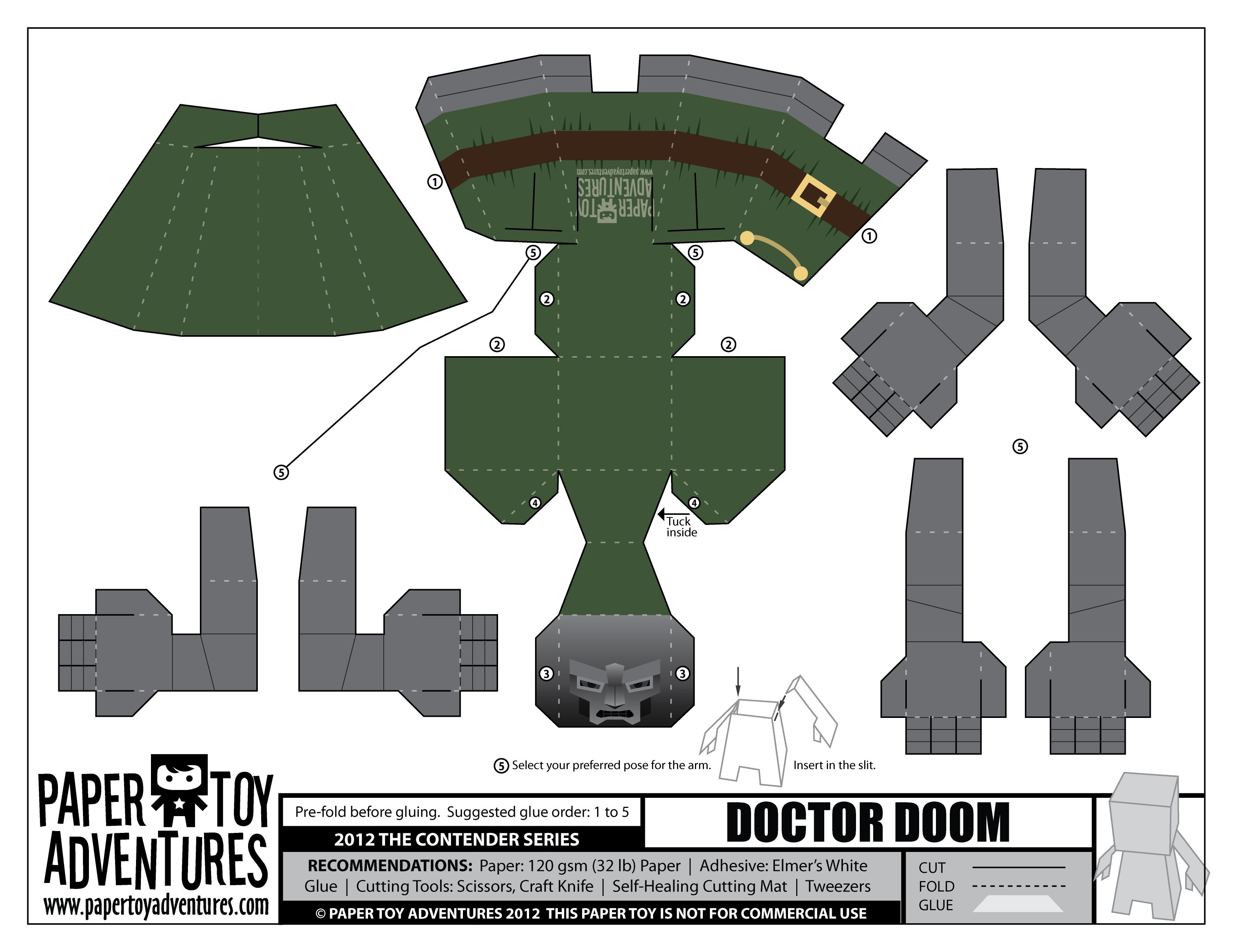 Dr Doom Papercraft Template  Papercrafts
