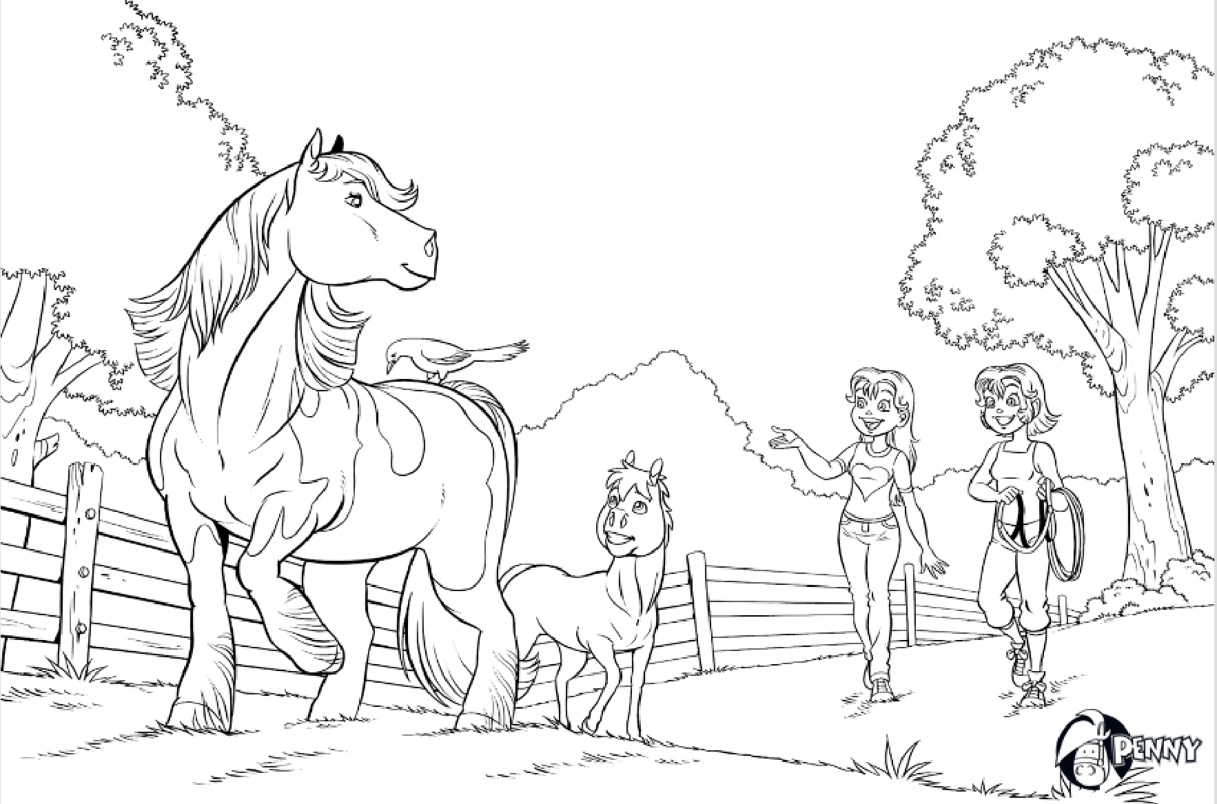 kleurplaten paarden en veulens kleurplaten dieren