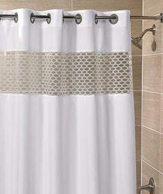 hookless shower curtain hookless