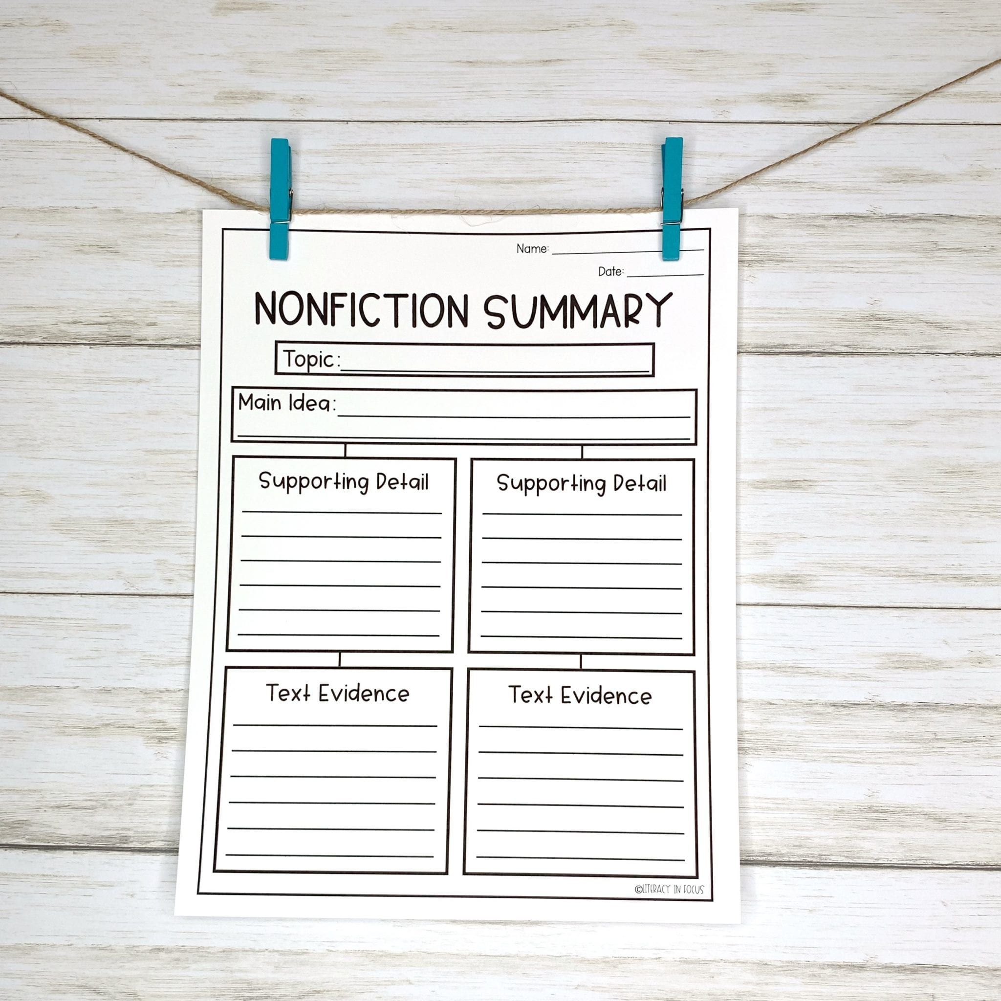 10 Graphic Organizers For Summary Writing In