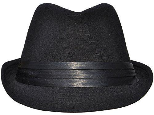 7c1e36c5221 Simplicity Short Brim Teardrop Crown Wool Blend Fedora Ha... https ...