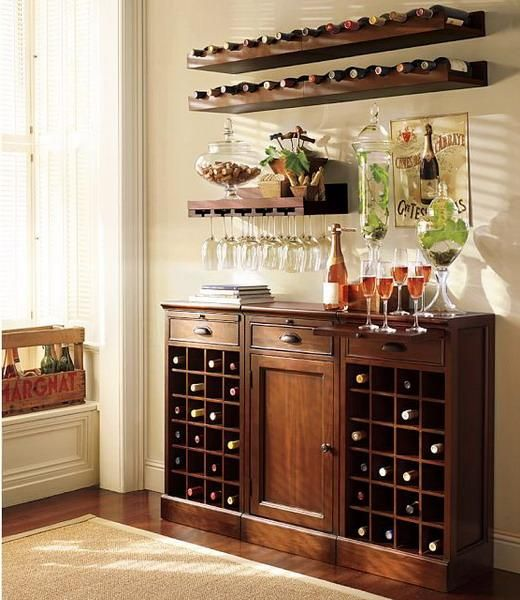 Wine Bar Decorating Ideas Home Part - 49: ... In Glass Jar. If It Opened At The Center For An Ice Bath - It Would Be  Perfect Space Saving Furniture For Small Home Bars And Interior Decorating  Ideas