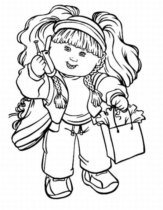 Cabbage Patch Kids Colouring Page 7