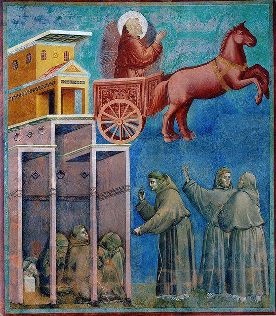 Giotto - La visione del carro di fuoco. Assisi, basilica superiore di San Francesco   Flickr - Photo Sharing!