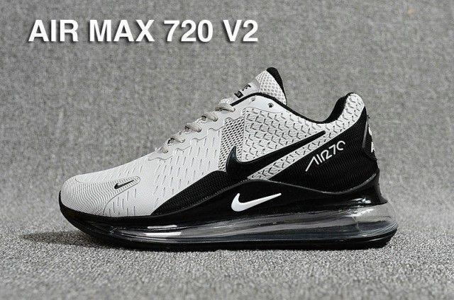 Men's Nike Air Max 720 V2 Kpu Wolf Grey Black Casual Shoes